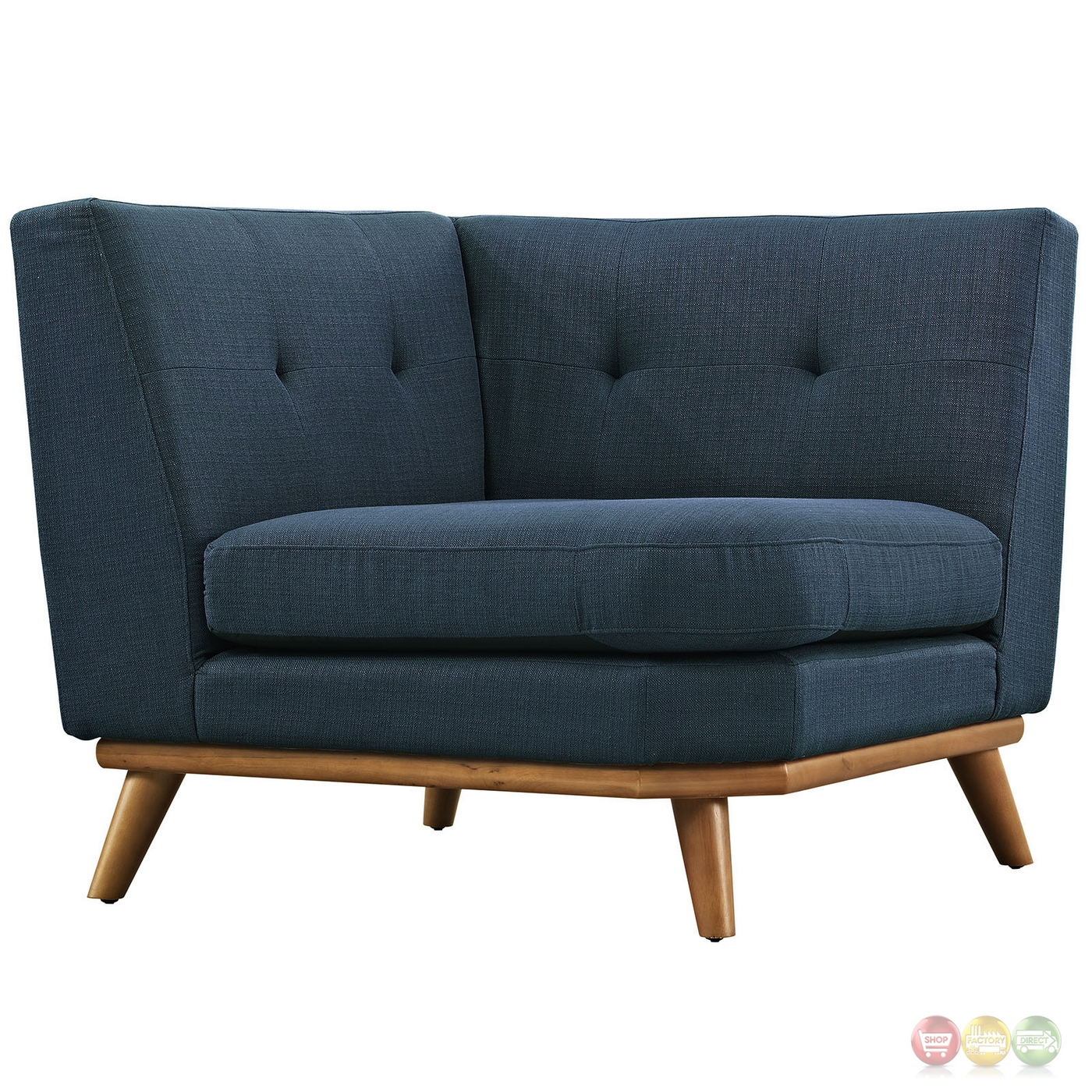 Mid Century Modern Sectional: Mid-Century Modern Engage 5pc Button-Tufted Fabric