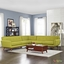 Mid-Century Modern Engage L-shaped Sectional Sofa w/ Button Accents, Wheat
