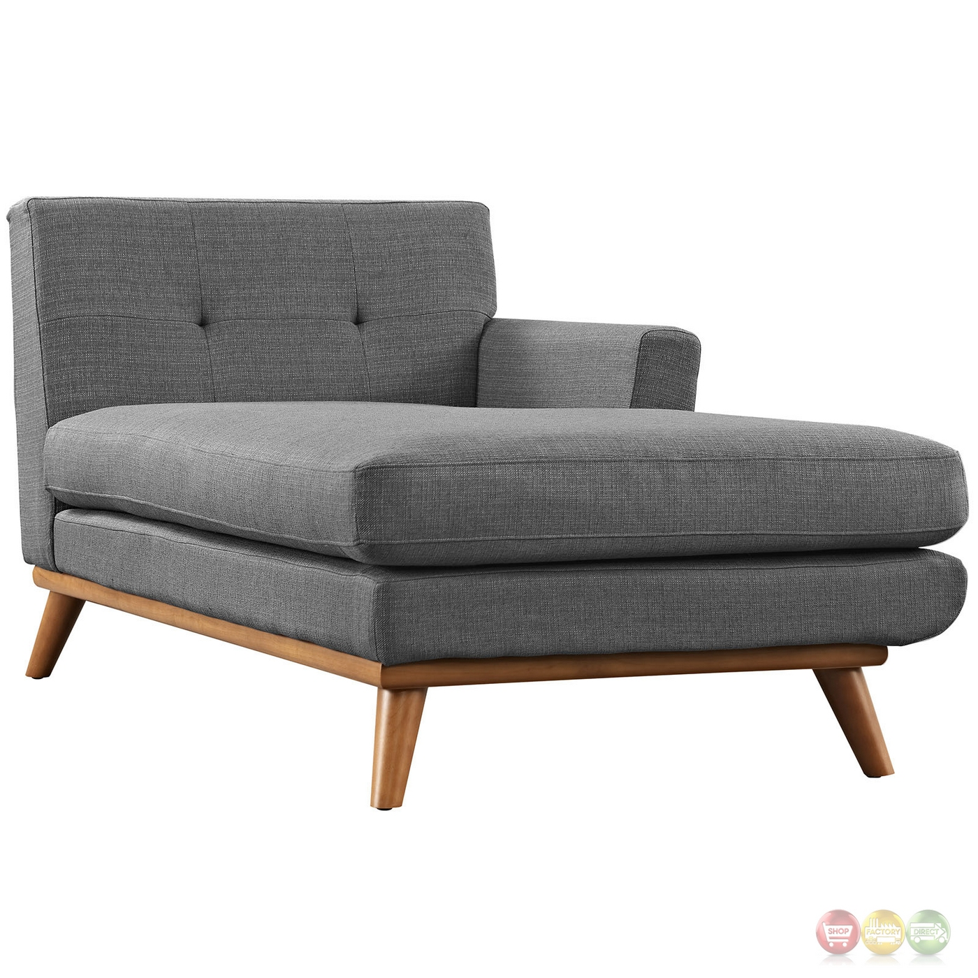 Engage contemporary right facing chaise sectional sofa w for Chaise wooden