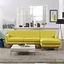 Mid-Century Modern Engage Right-facing Chaise Sectional Sofa, Sunny