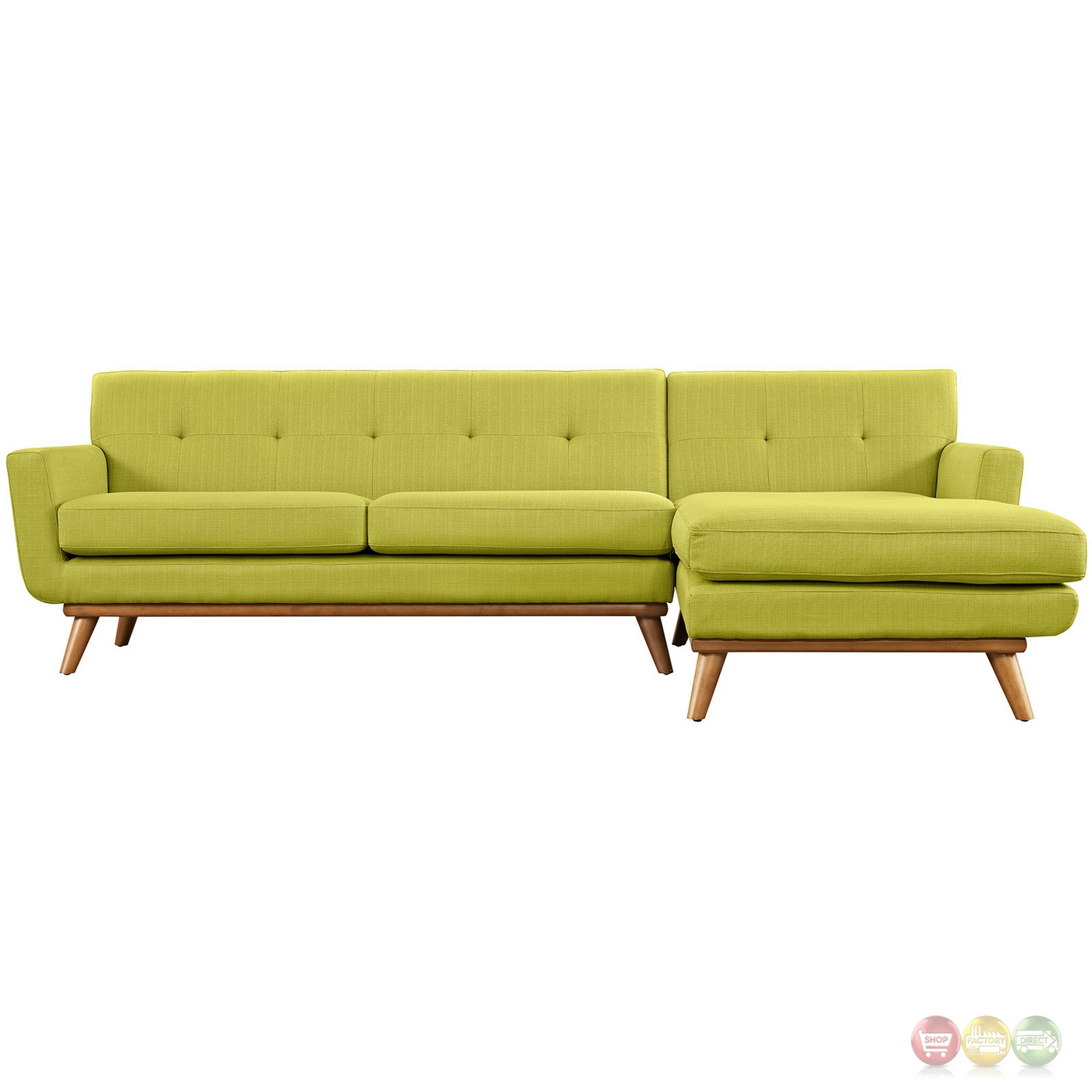 Mid-Century Modern Engage Right-facing Chaise Sectional ...