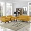 Mid-Century Modern Engage 2pc Button-Tufted Loveseat & Armchairs, Citrus