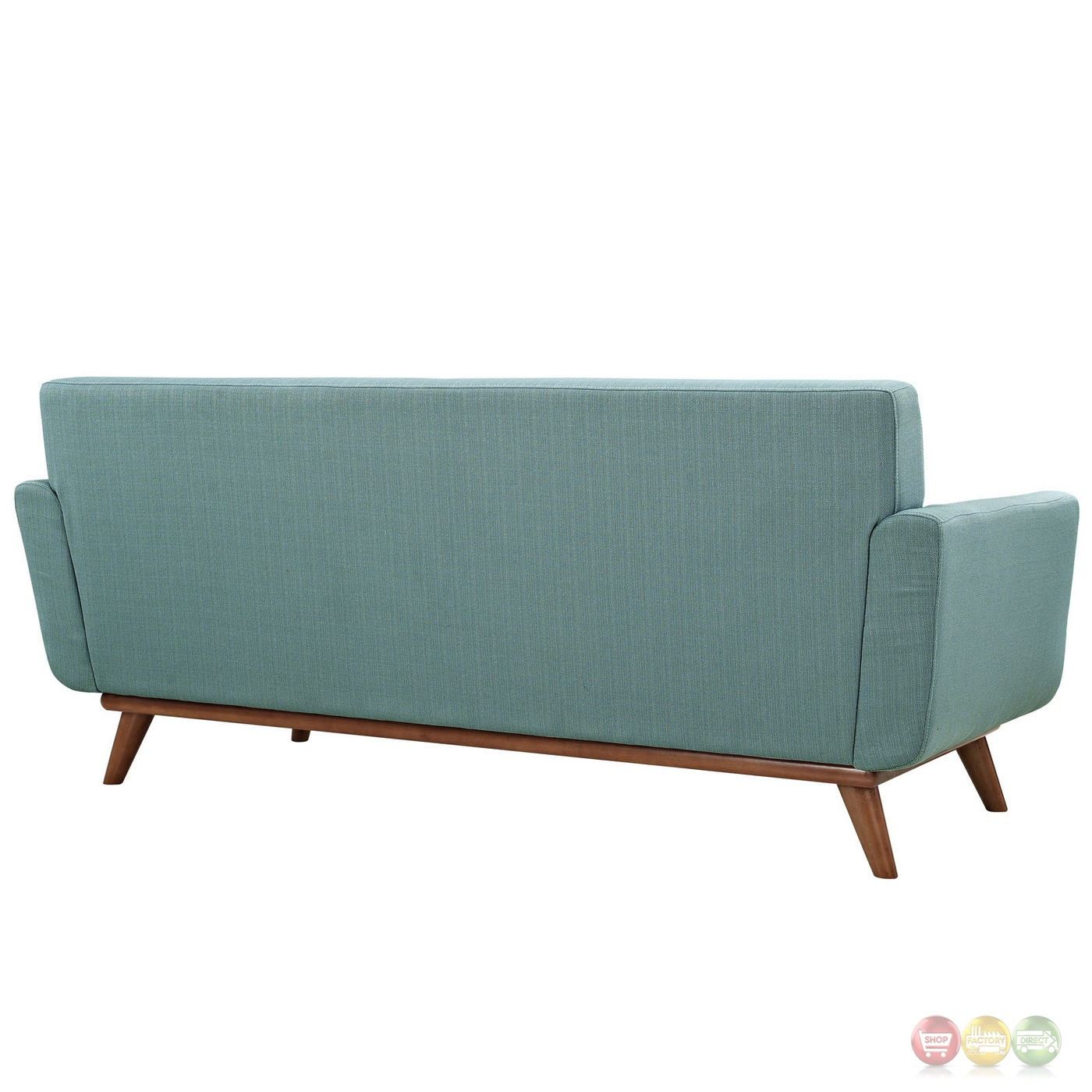 Engage Modern 2pc Upholstered Button Tufted Loveseat And Armchairs Laguna