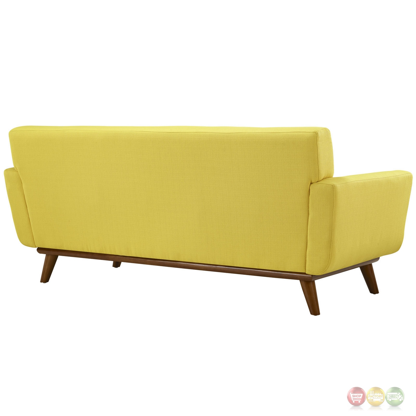 Engage Modern 2pc Upholstered Button Tufted Loveseat And Sofa Sunny