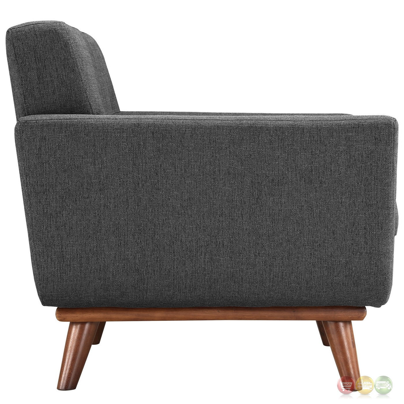 Engage modern 2pc upholstered button tufted sofa armchair for Armchair builder