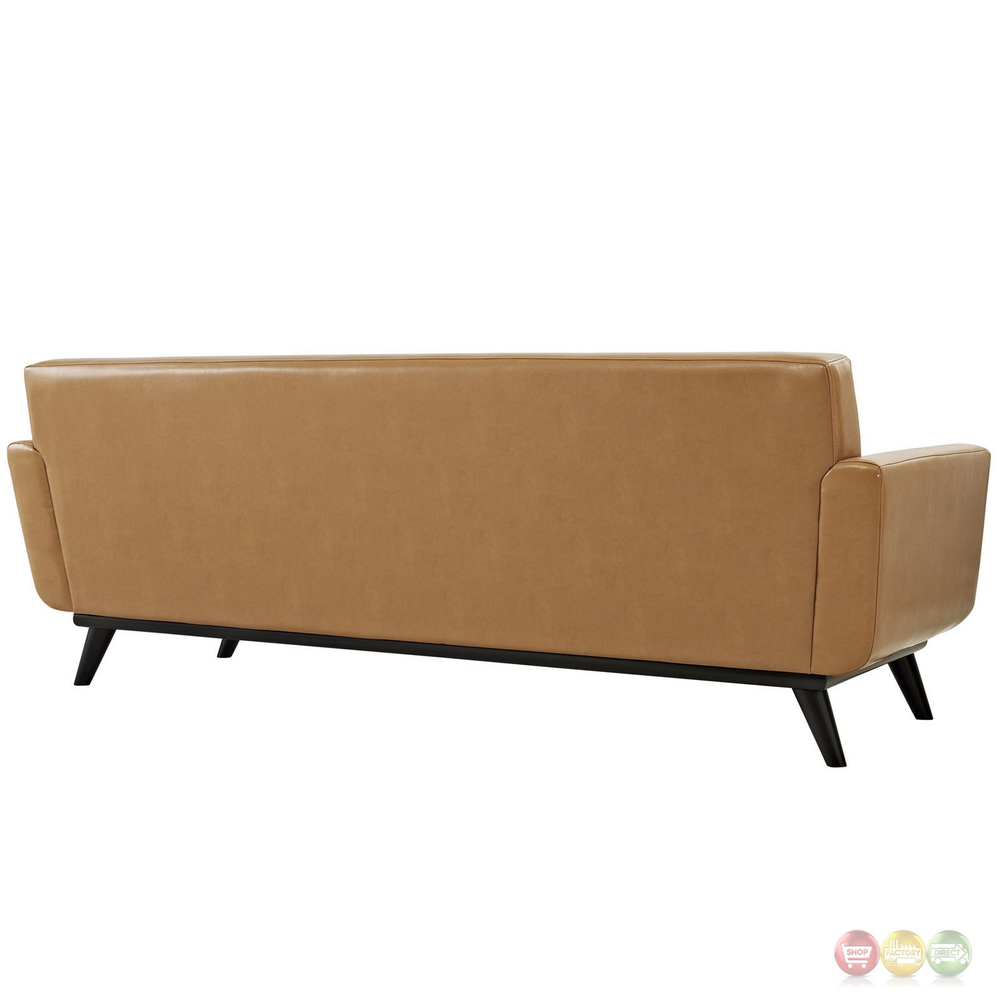 Engage modern bonded leather sofa with button tufted for Couch furniture