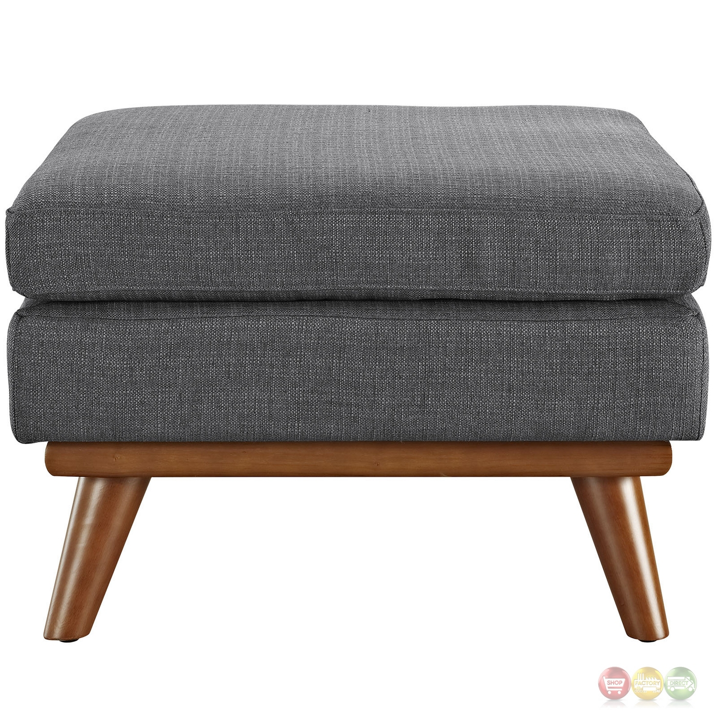 Mid Century Modern Engage Button Tufted Upholstered Corner