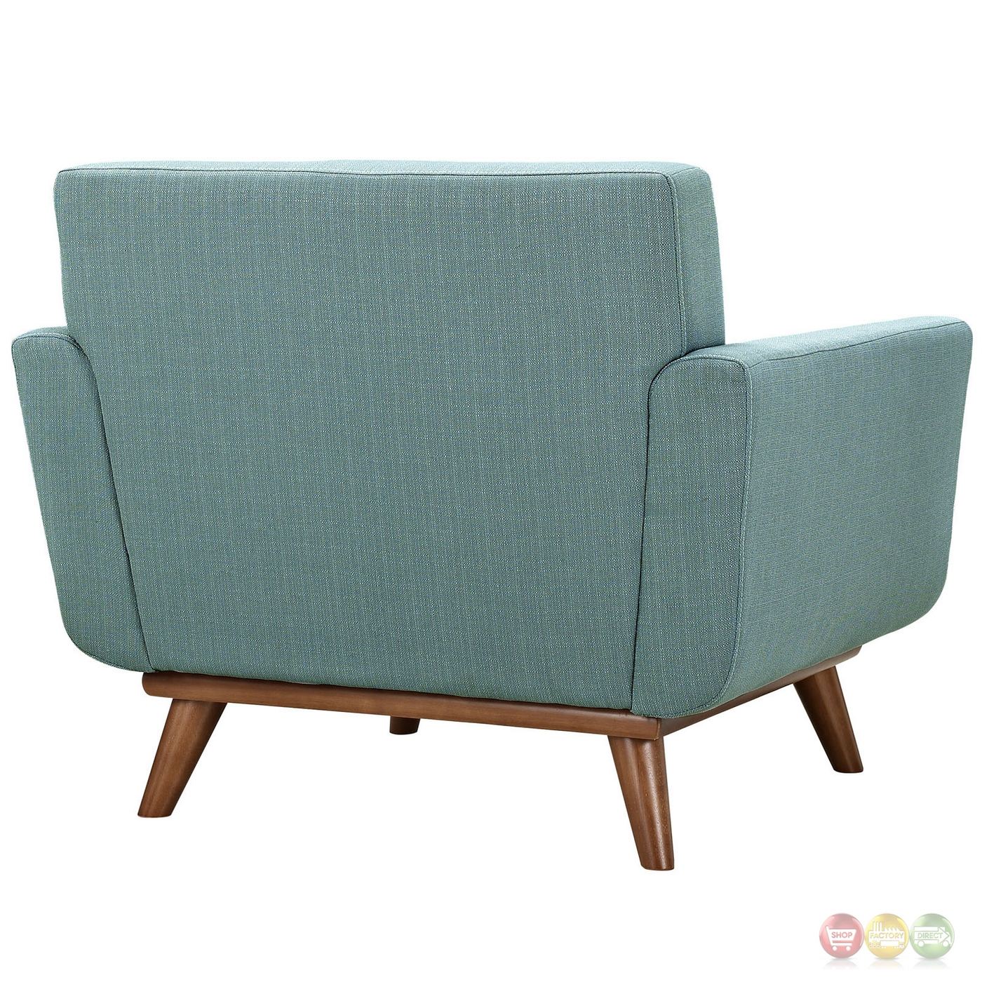Engage modern upholstered button tufted armchair with wood for Armchair builder