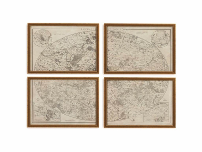 Environs of Paris Gold Framed Wall Art 9900-345EC
