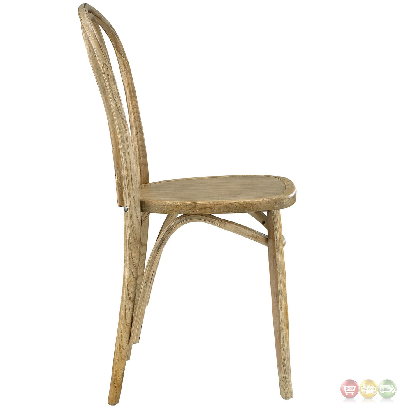 Eon contemporary natural solid wood dining side chair natural for Natural wood dining chairs