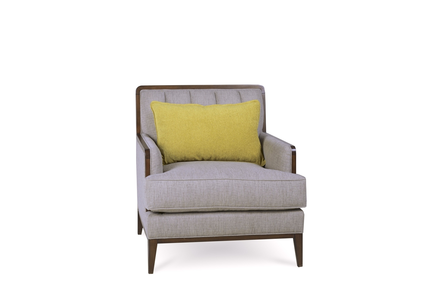 Epicenters Channel Tufted Wilsey Chair In Natural Oatmeal Grey