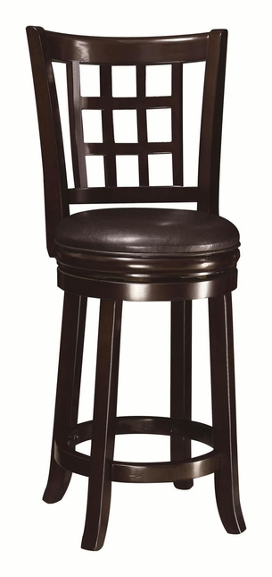 Espresso Swivel Seat Bar Stool with Round Footrest