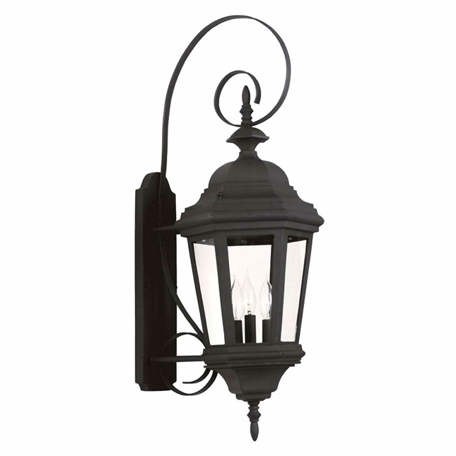 Estate Black Large 60 Watt Candelabra Bulb Wall Lantern