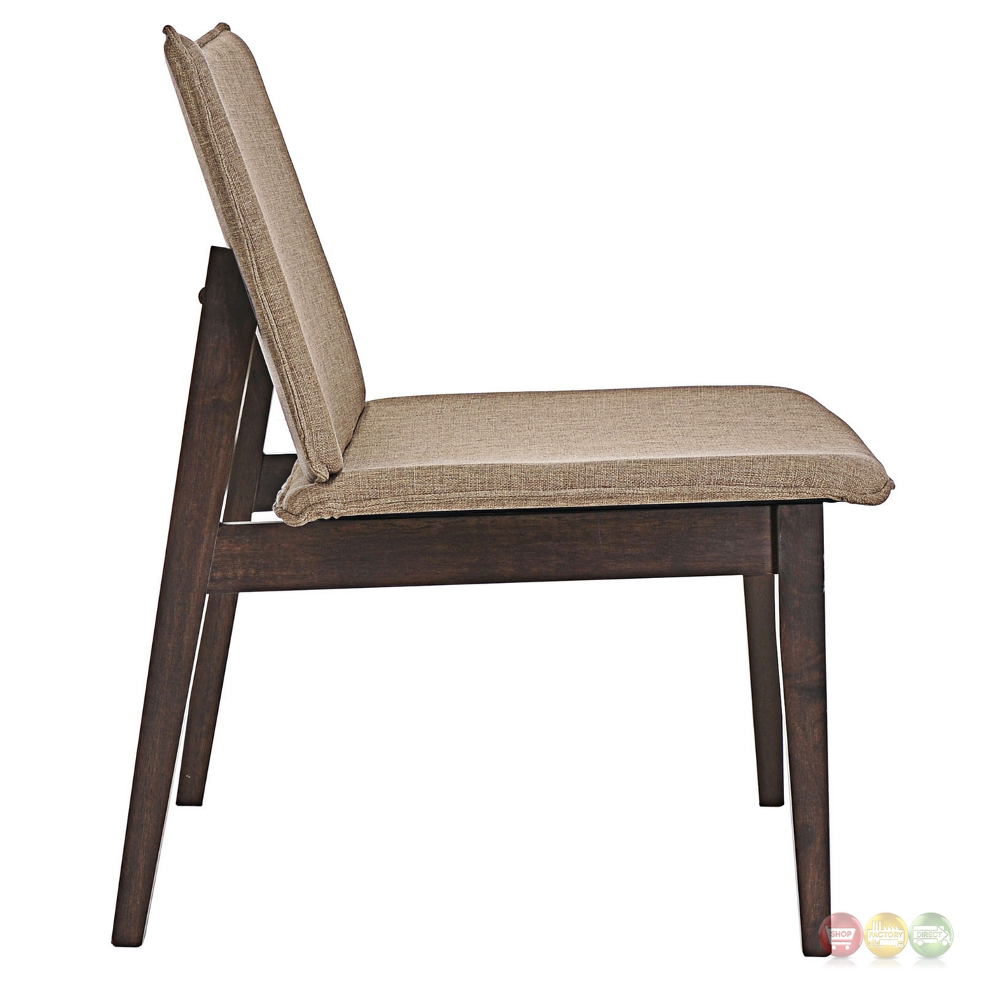 Evade vintage modern upholstered lounge chair with wood