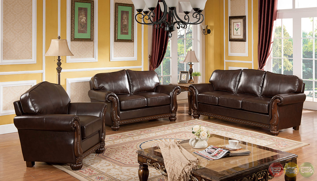 eve traditional medium wood formal living room sets with