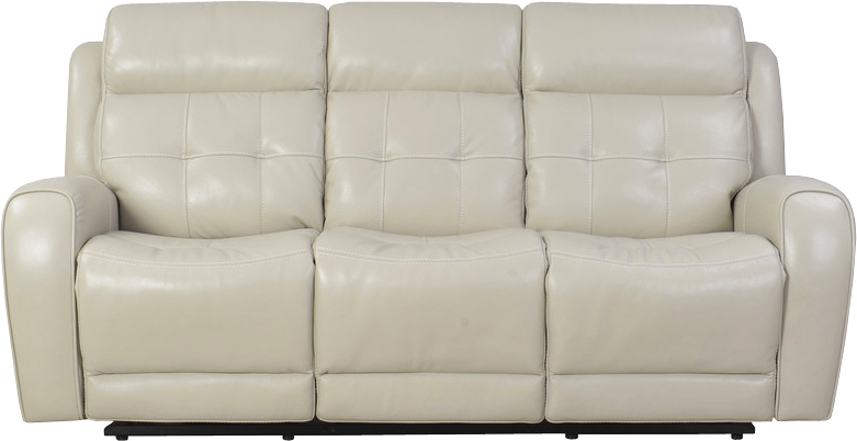 Everest Cloud Dual Reclining Leather Sofa W Power Headrest And Usb