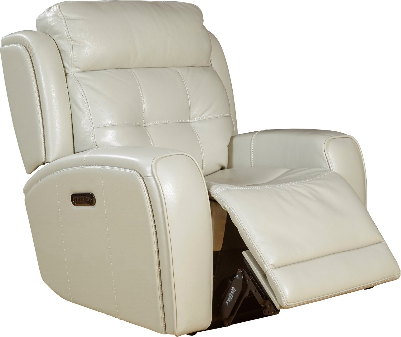 Everest Cloud Power Leather Recliner With Power Headrest