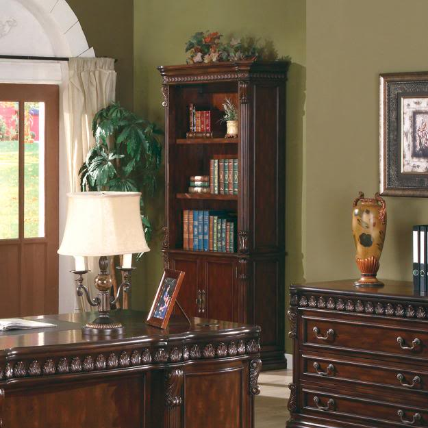Executive Dark Brown Solid Wood Home Office Bookcase Coaster 800803