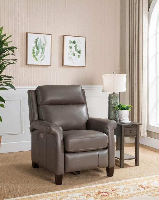 Exeter Genuine Leather Power Leather Recliner with Power