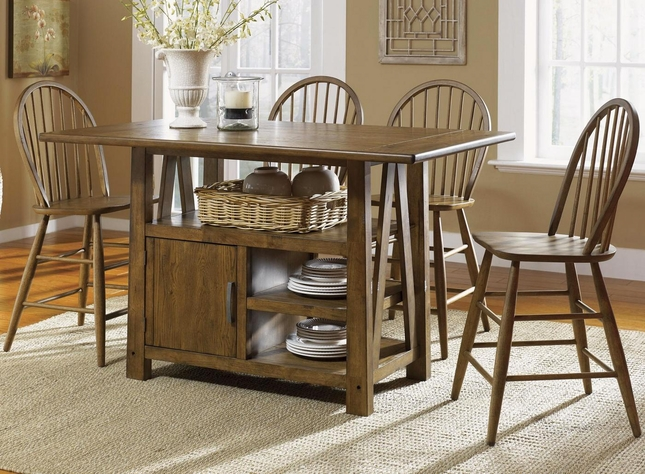 Farmhouse Counter Height Table Set | Casual Dining Table Set