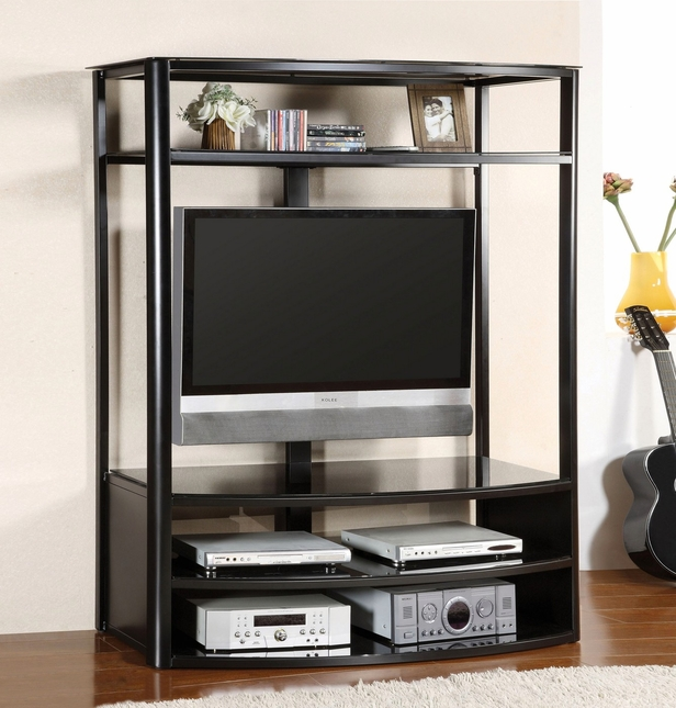 Faron I Black TV Console with Mount Bracket