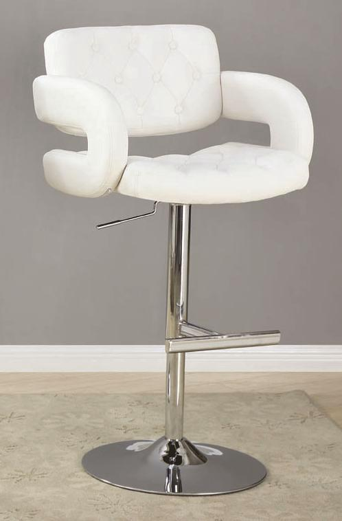 Faux Leather Upholstery 29 Inch Chrome Pedestal Bar Stool