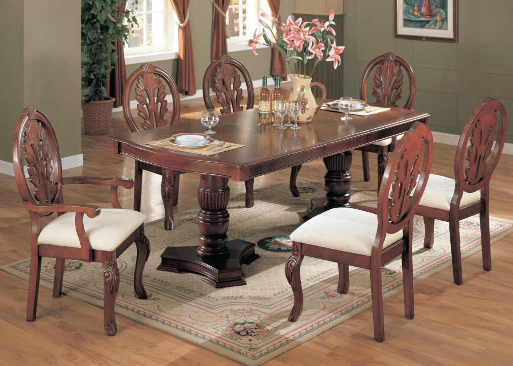Formal dining room sets formal dining table and chairs for Cherry formal dining room sets