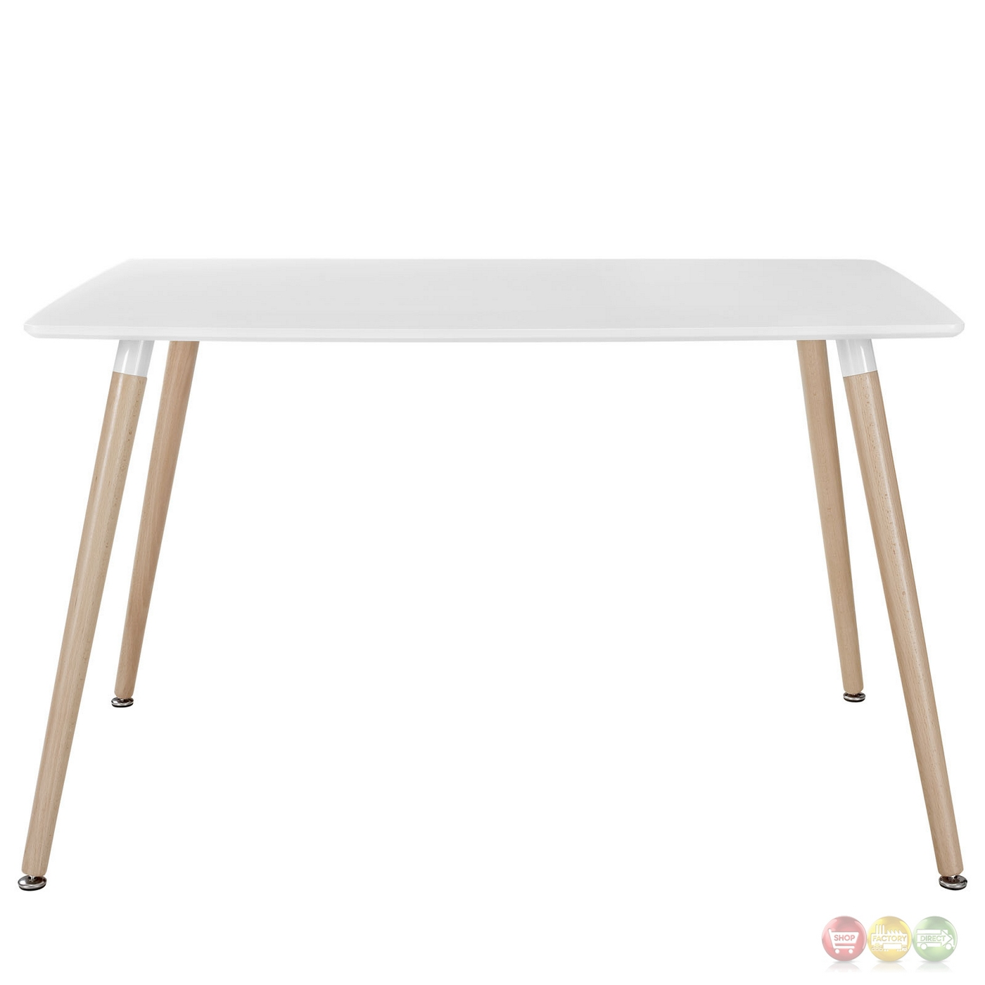 Field Contemporary 47 Wooden Dining Table White