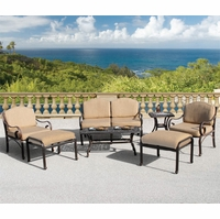 Fiesta 7 Piece Cast Aluminum Patio Furniture Seating Set