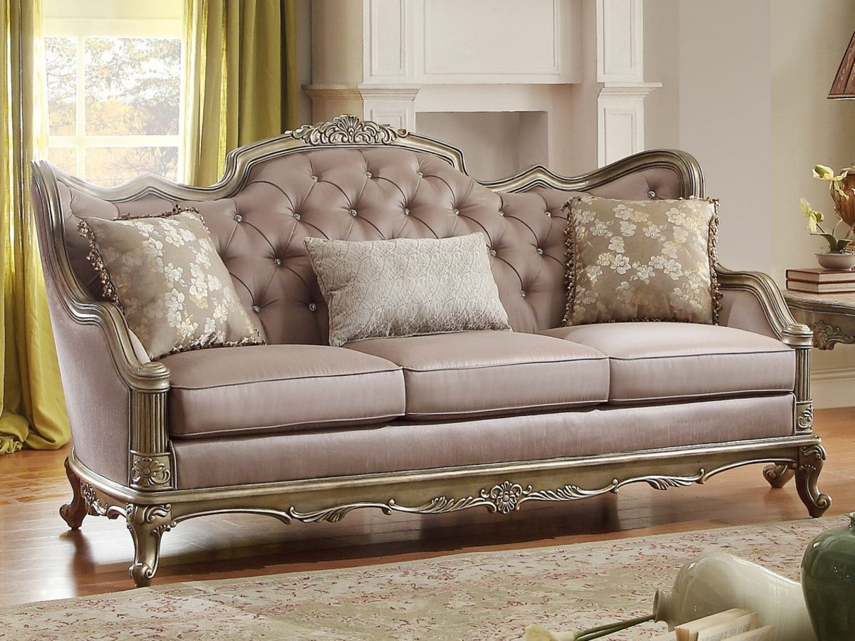 Luxury Sofa Gold Loveseat Silk Sofa Shop Factory Direct