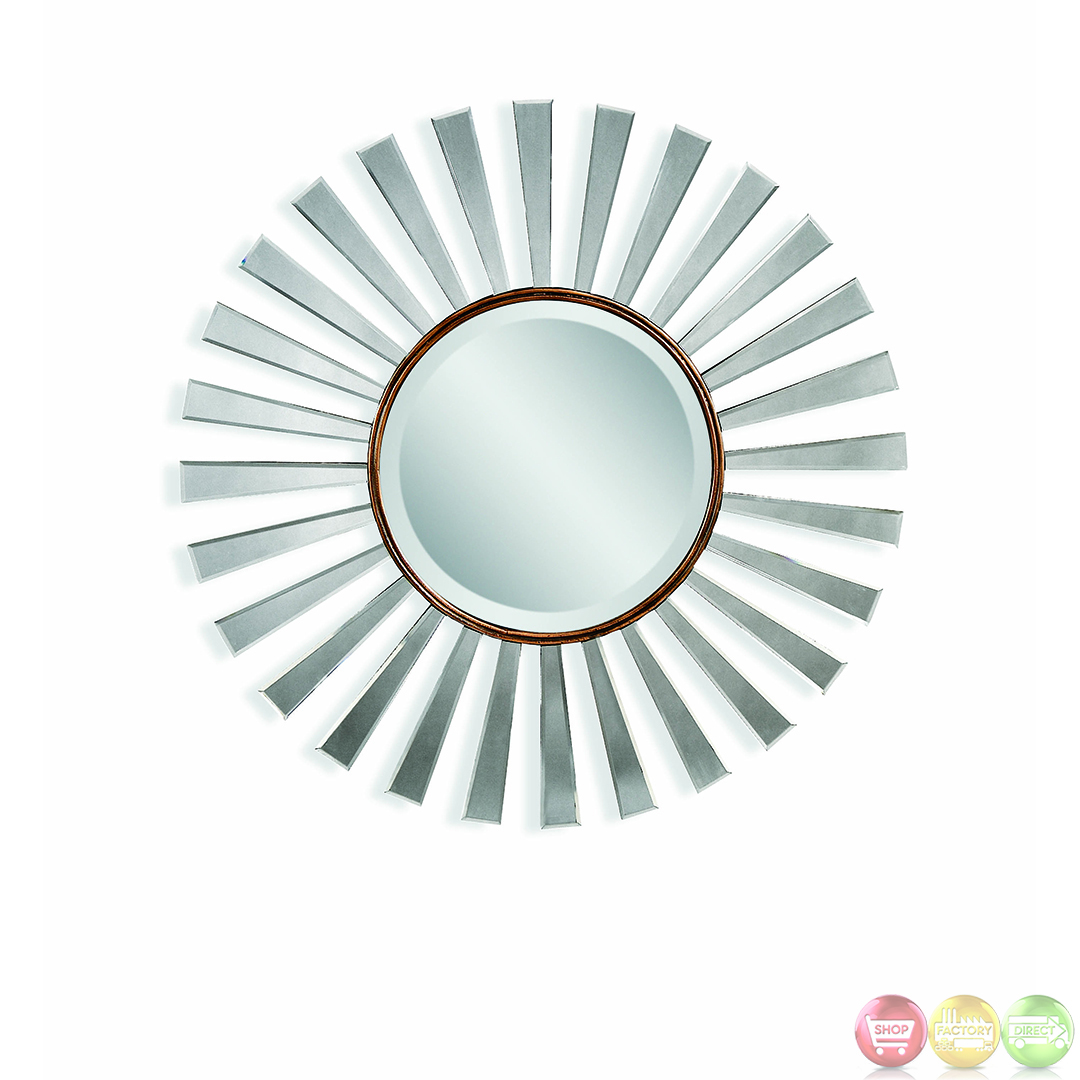 Fiorenza Art Deco Sunburst Wall Mirror M3236bec