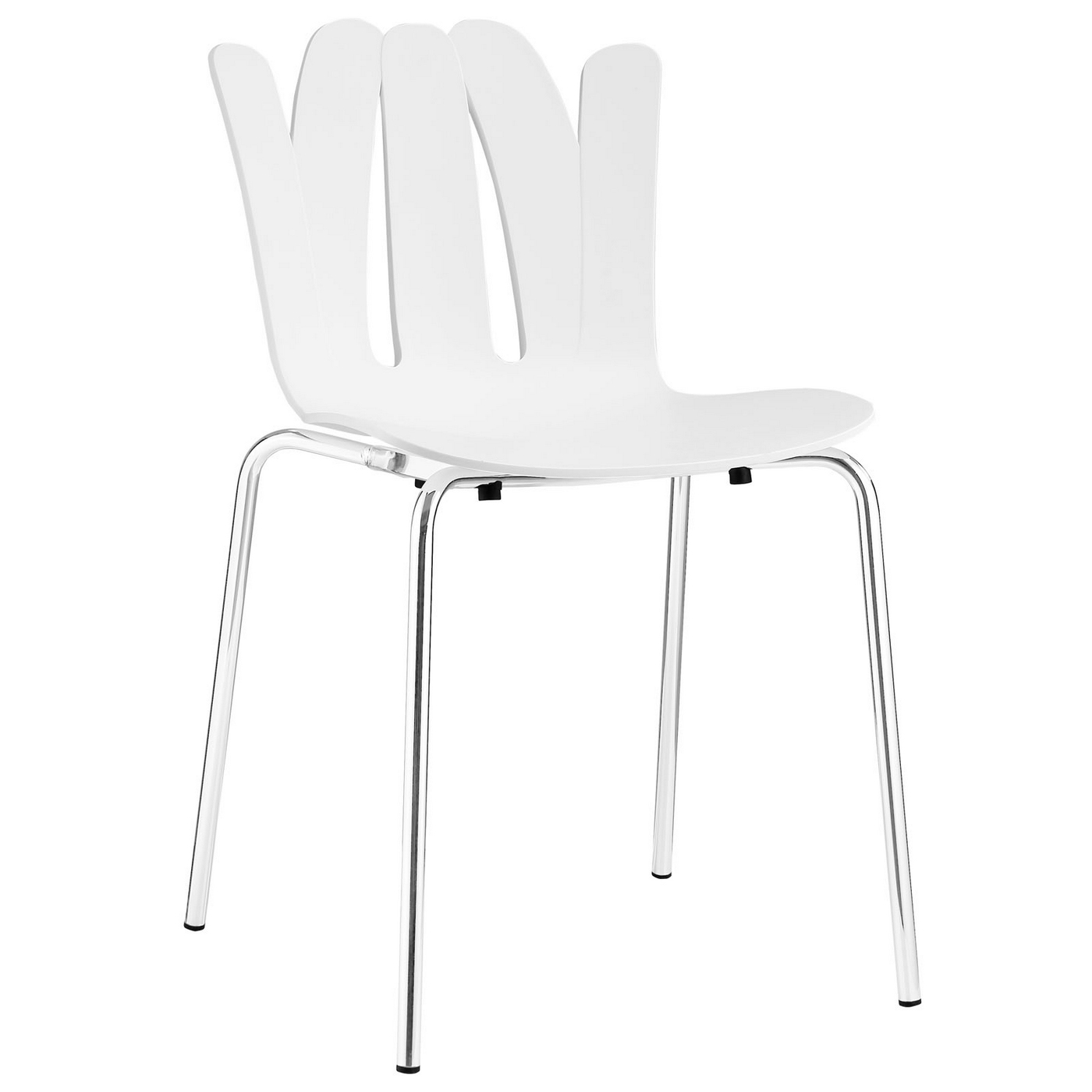 Details About Flare Modern Stackable Stylish Plastic Dining Side Chair With Steel Frame White