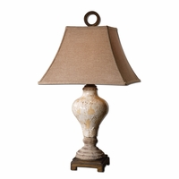 Fobello Crackled Ivory Ceramic Table Lamp 26785