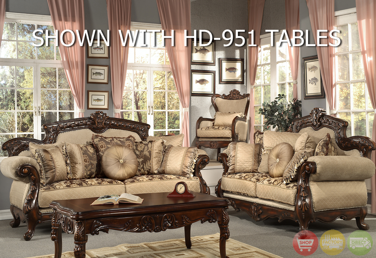 Formal Living Room Antique Style Luxury Sofa Set Hd 296