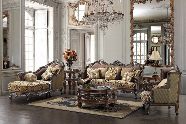 Formal Luxury Sofa Chaise Lounge Traditional Living Room Set