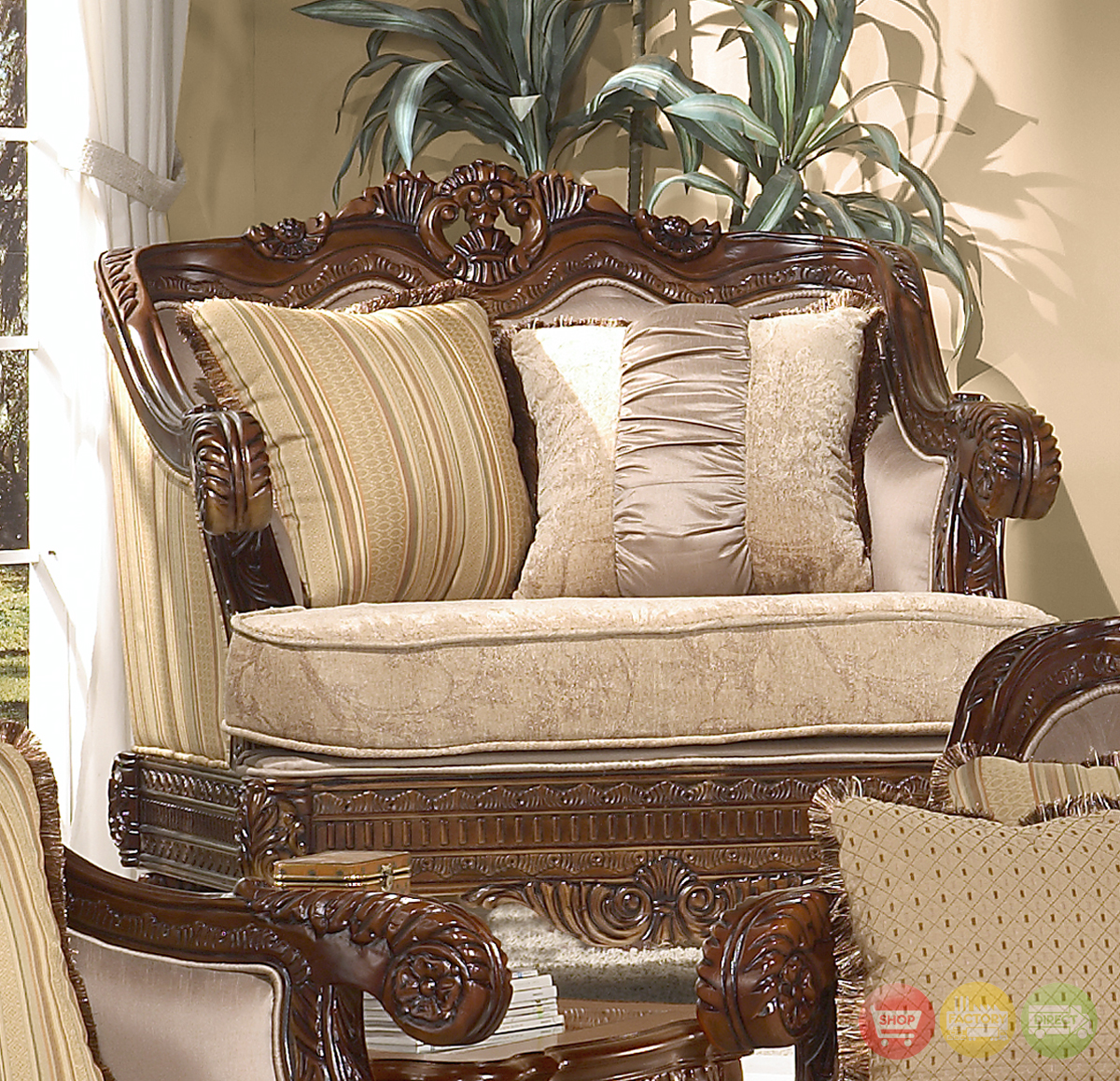 Formal luxury set traditional living room furniture hd 386 for Formal sofa sets