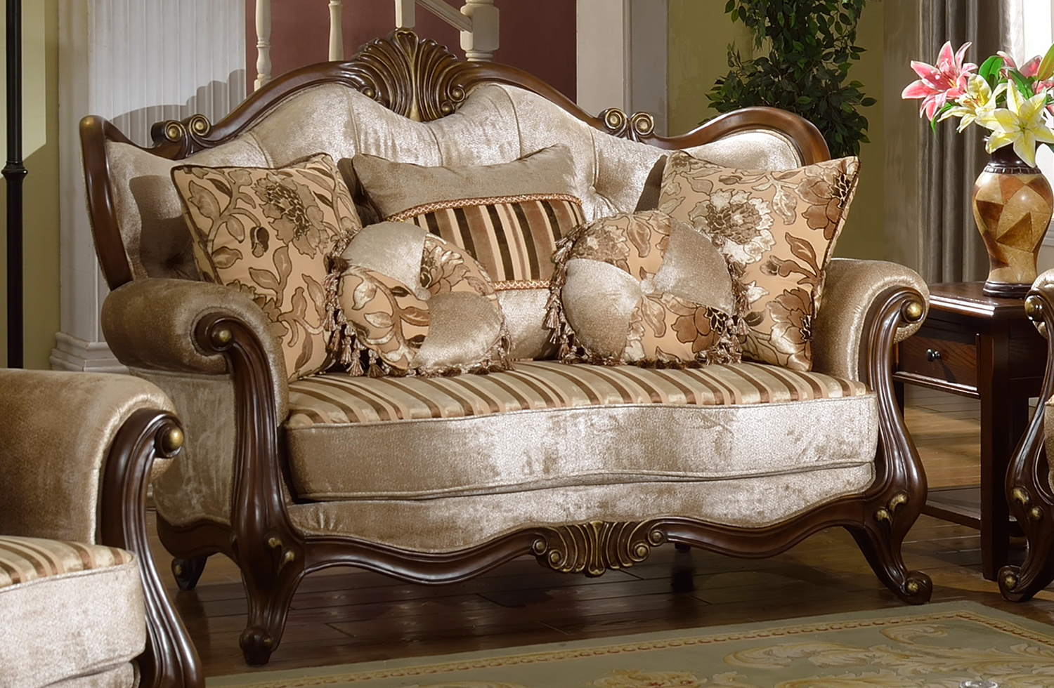 French provincial living room set for French style living room furniture