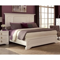 Furiani White Queen Bed with Recessed Picture Framed Cases
