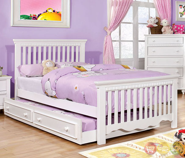 canberra cottage white youth bedroom set with slatted
