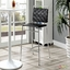 Fuse Modern Bar Stool With Webbed Back And Chrome Finished Legs, Black