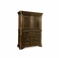 Gables 7-Drawer Ornate Dark Cherry Master Chest With Crotch Okume Veneer