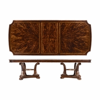 Gables Double Pedestal 2-Drawer Dining Table in Exotic Cherry Okume Veneer
