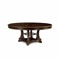 Gables Exotic Okume Wood 4-Point Round Dining Table In Dark Cherry