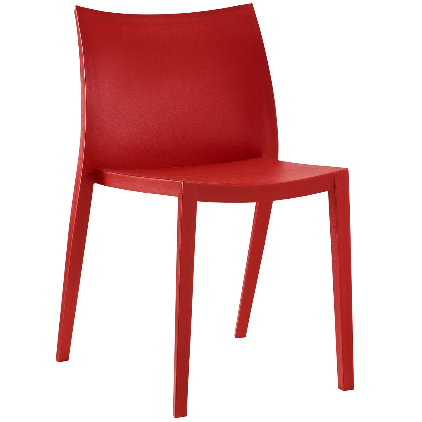 gallant contemporary plastic dining side chair red. Black Bedroom Furniture Sets. Home Design Ideas