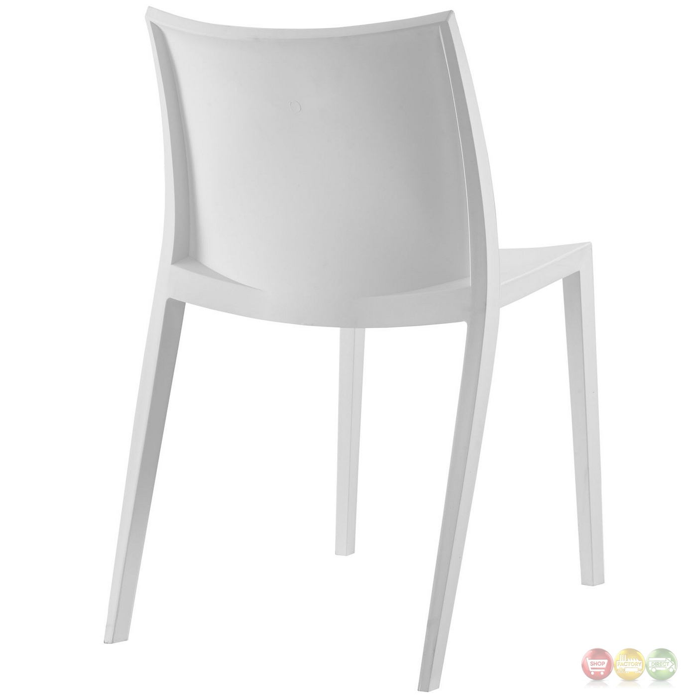 Gallant contemporary plastic dining side chair white for Contemporary plastic dining chairs