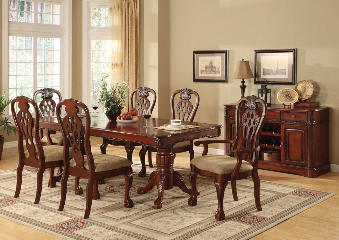 George Town Elegant Cherry Formal Dining Set With