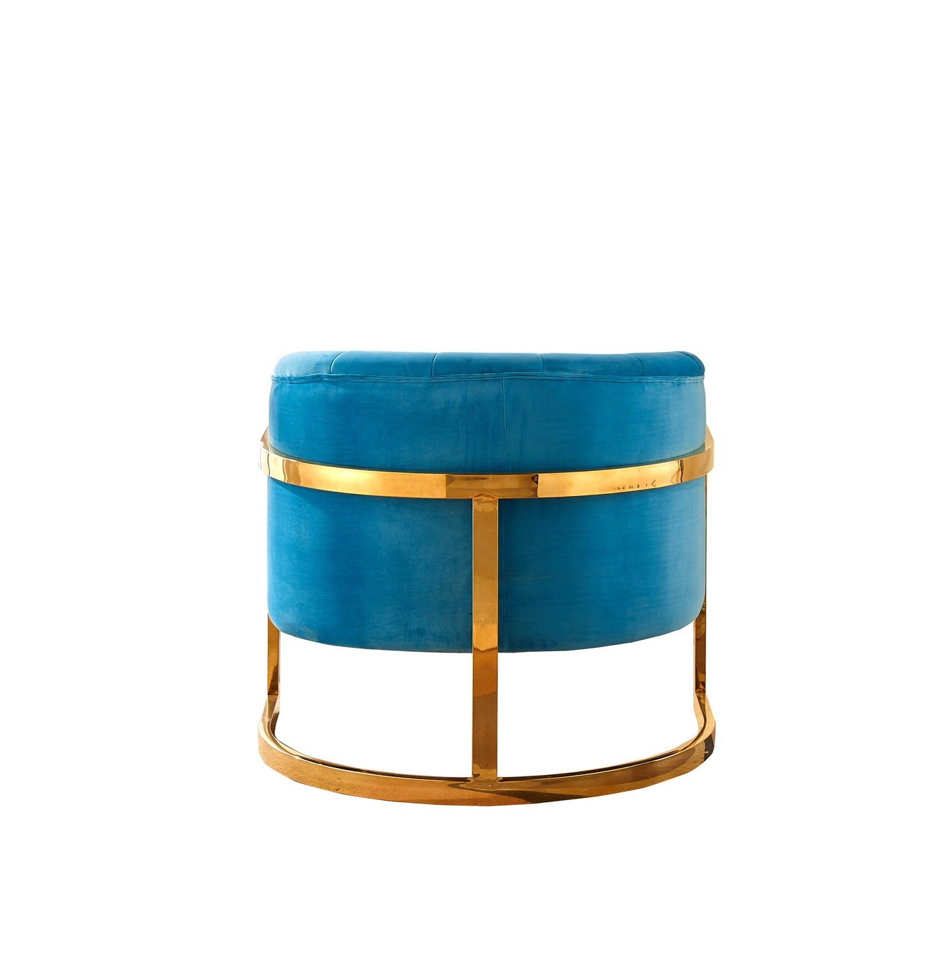 Gideon Modern Aqua Blue Velvet Accent Chair with Gold ...