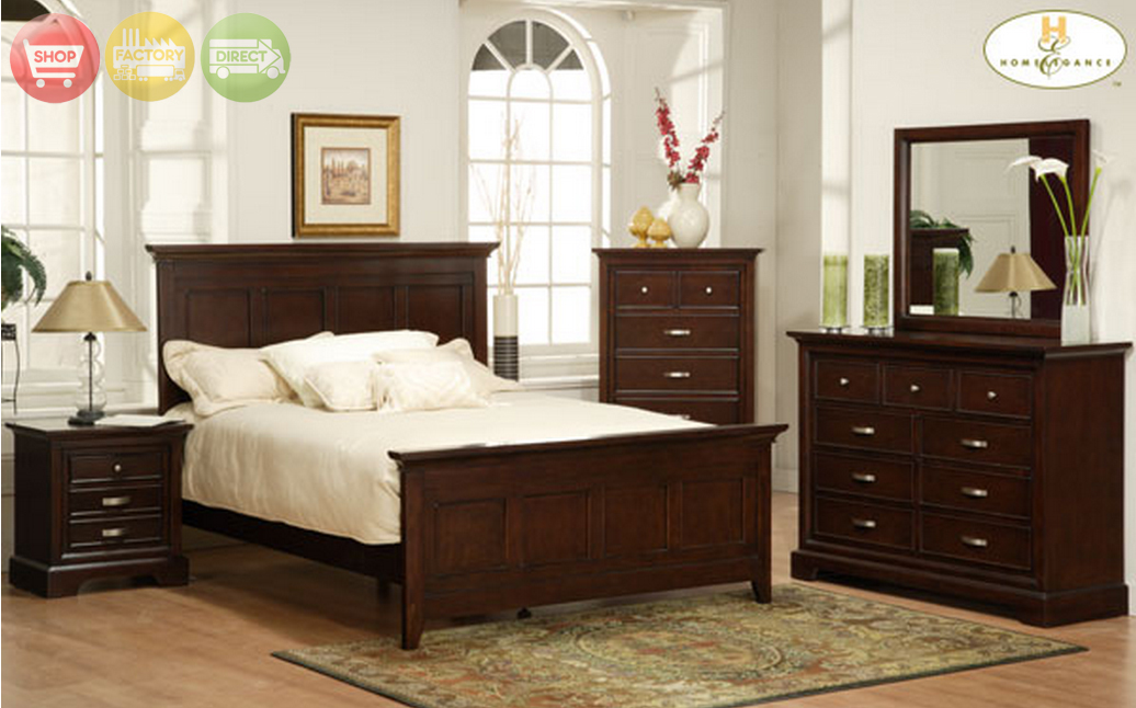 glamour espresso finish bedroom furniture set free shipping