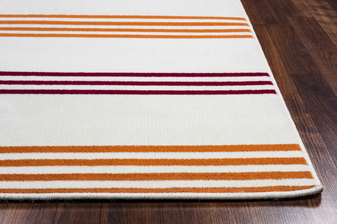 Glendale minamalist stripes area rug in off white red for Red and white striped area rug