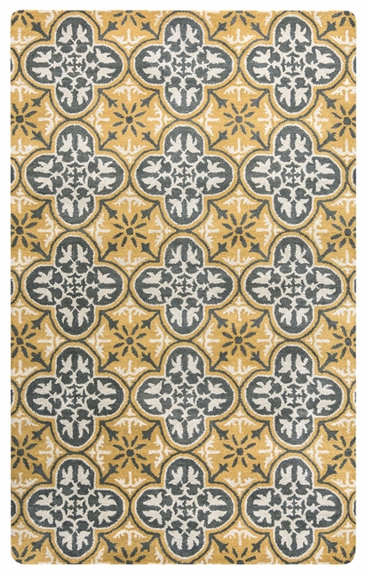 Rizzy Rugs Gold Transitional Hand Tufted Area Rug Opus OP8100
